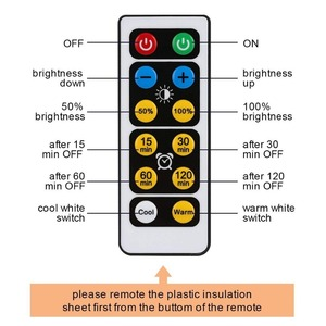 Image 5 - BTgeuse אלחוטי LED פאק אורות מטבח תחת קבינט תאורה עם שלט רחוק סוללה מופעל Dimmable ארון לילה אורות