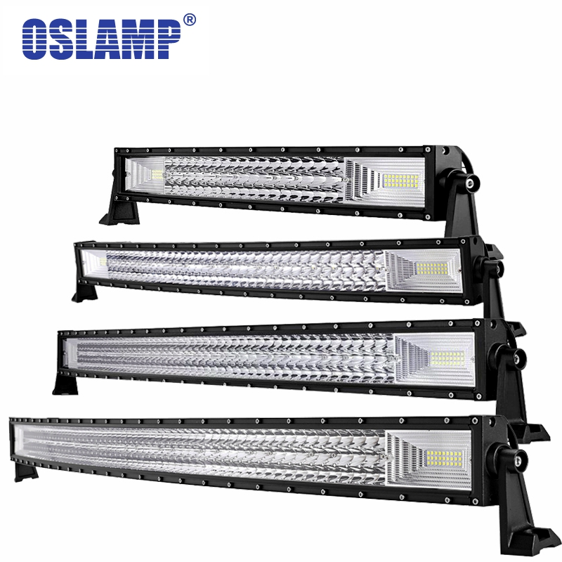 Oslamp Led Light Bar 22 34 42 50 Curved Work Light Led Bar Light For Offroad Car 4WD Truck Tractor Boat Trailer 4x4 SUV ATV 234w 78 high power cree led work light bar 35 inches led light bar for truck boat atv suv 4wd
