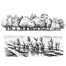 AZSG Quiet Scenery Clear Stamps For Scrapbooking DIY Clip Art /Card Making Decoration Crafts