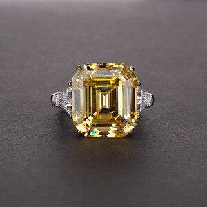 Image 3 - خاتم كلاسيكي من الفضة الإسترلينية عيار 100% عيار 925 مقاس 14*16 ملم من OneRain مجوهرات للزواج وحفلات الكوكتيل مقاس 5 12