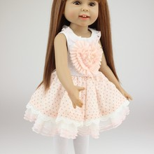 18 inch American Doll Full Silicone Vinyl bebe Reborn  Girl Cute reborn Toddler Toys For Kids Gifts Birthday Brinquedo