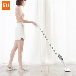 Image 2 - Xiaomi Deerma Water Spraying Sweeper Floor Cleaner Carbon Fiber Dust Brush Brush 360 Rotating Stem 350 ml SS