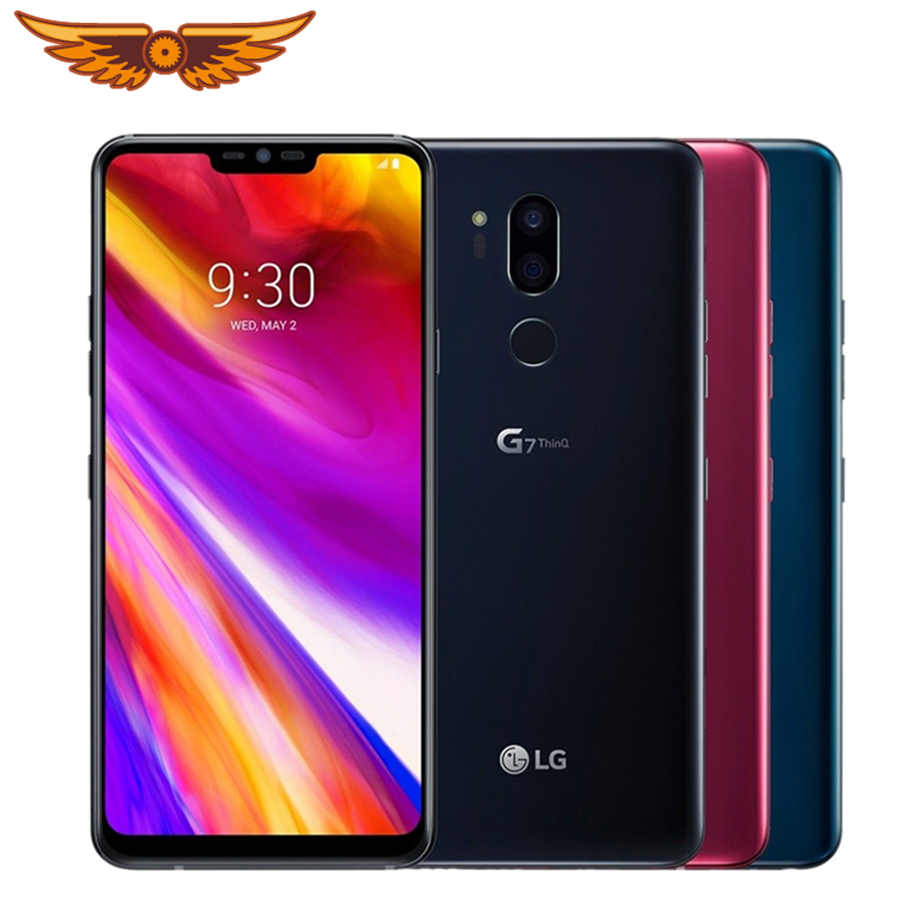 Original Unlocked LG G7 ThinQ 6.1 Inches Octa Core 4GB RAM 64GB ROM LTE 4G 16MP Dual Rear Camera 1440 X 3120 Android Smartphone
