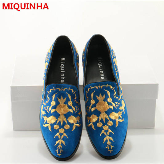 Plus Size 2017 Shoes Man Spring Summer Casaul Embroidered Loafers Shallow Slip On Flats Designer Man Leather Cozy Shoes Flats 2017 summer new fashion sexy lace ladies flats shoes womens pointed toe shallow flats shoes black slip on casual loafers t033109