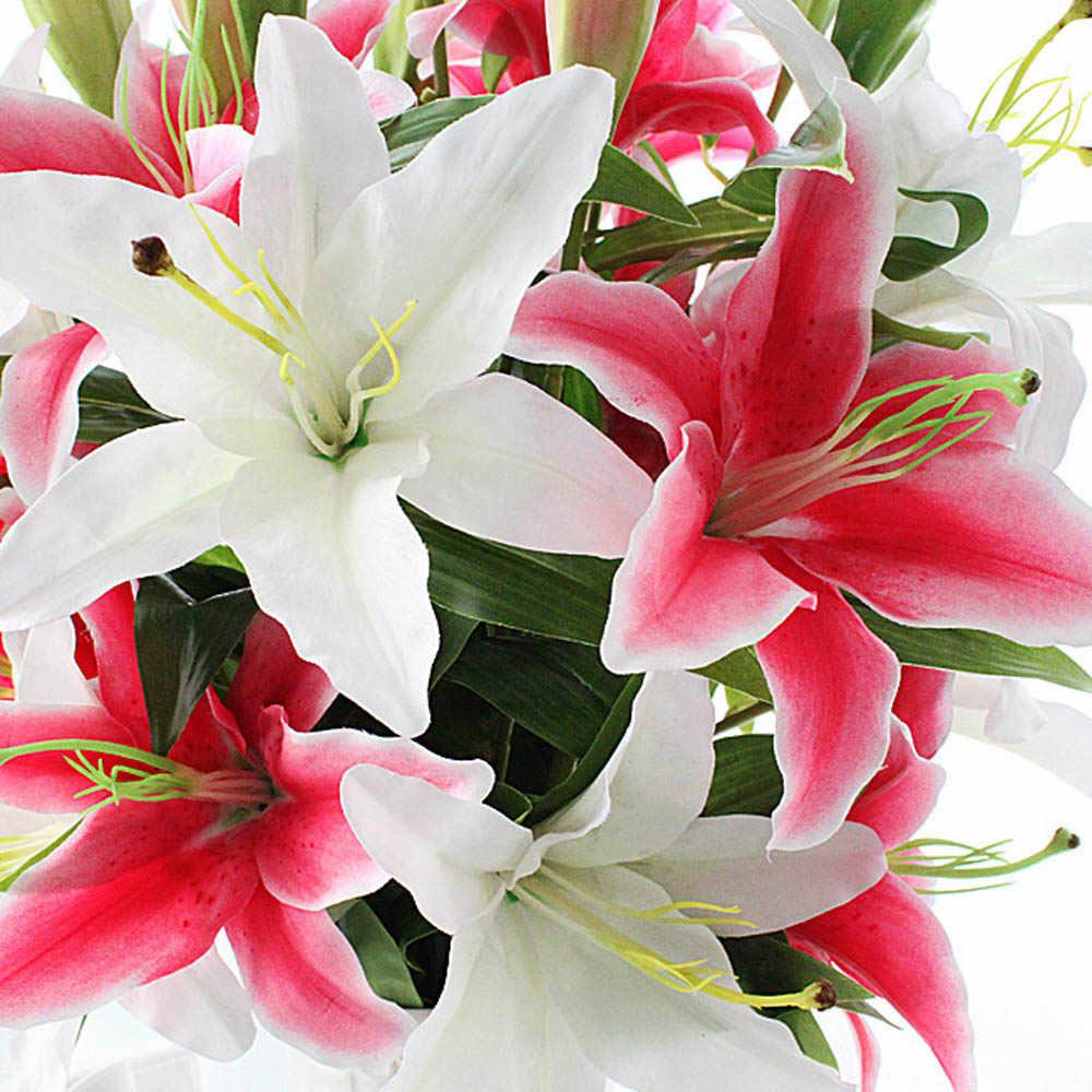 Открытка с днем рождения девушке цветы лилии, днем