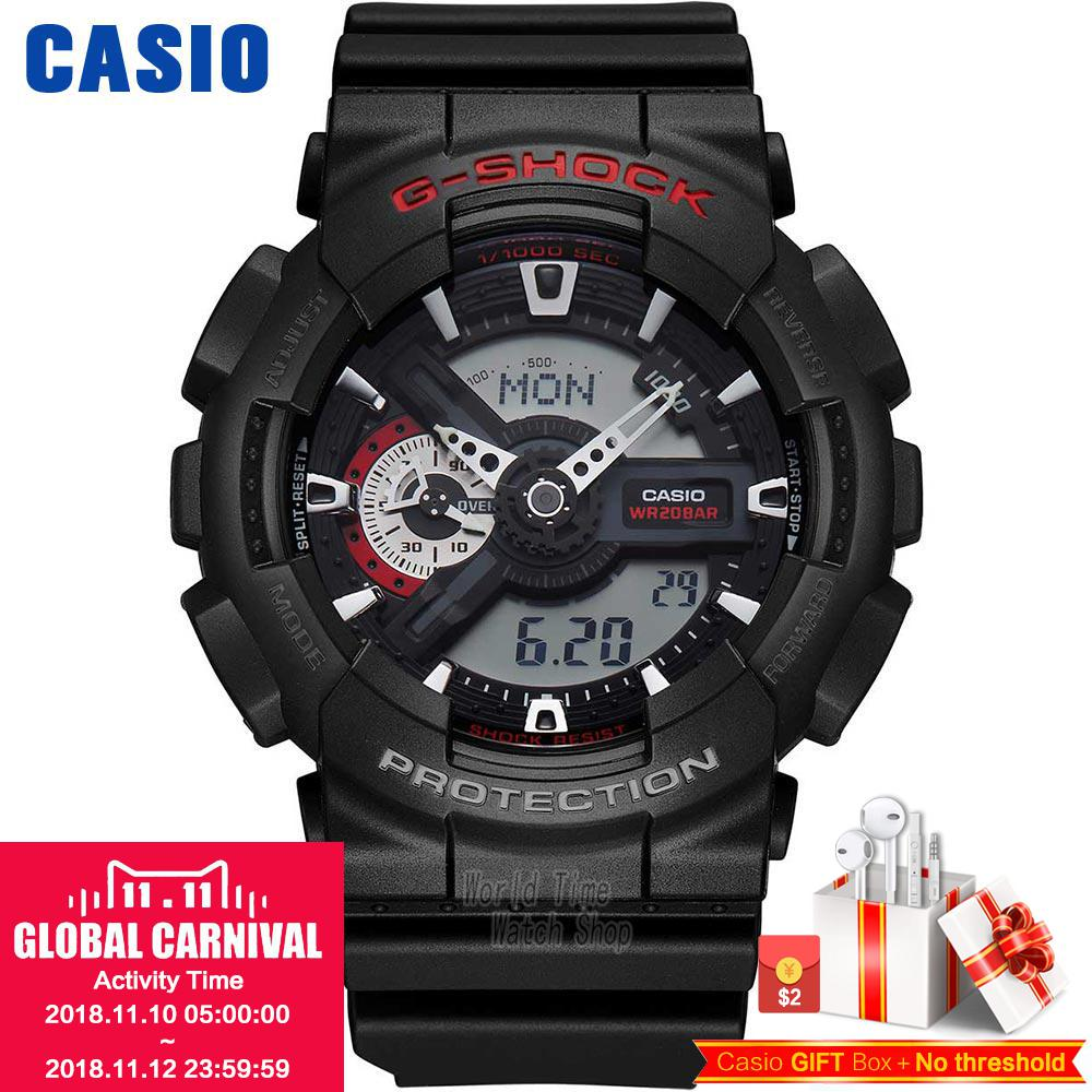 Casio watch Outdoor sports watch hard touch anti-shock waterproof male watch GA-110-1A casio g shock ga 110 1a