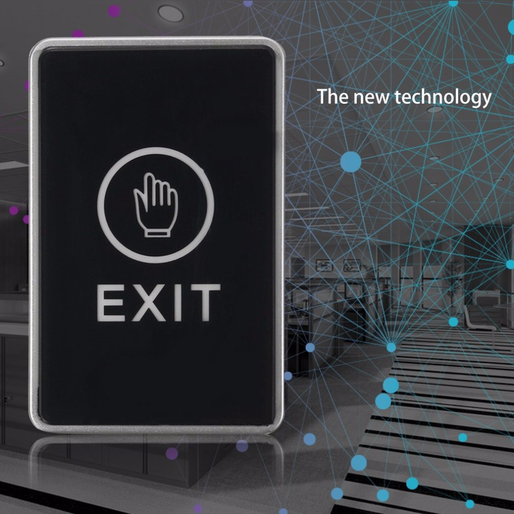 LESHP Push Touch Sensor Exit Button Security Access Control System Door Exit Release Button With LED Indicator Light for Home exit