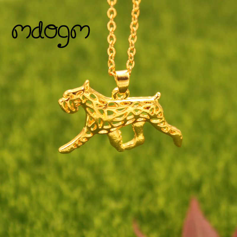 2018 New Cute Schnauzer Necklace Dog Animal Pendant Gold Silver Plated Jewelry For Women Female Girls Kids Ladies N103