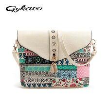 2017 Summer Vintage Bag For Women Messenger Bags Canvas Print Crossbody Shoulder Bag Small Ladies Designer Handbags High Quality