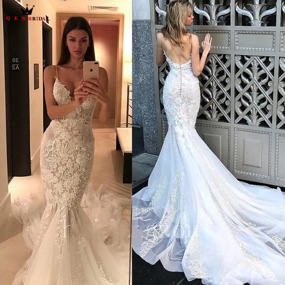 Mermaid Sweetheart Big Train Tulle Fiori Del Merletto Sexy Sposa Abiti Da Sposa 2018 New Fashion Abiti Da Sposa Custom Made YB33