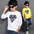 Boys T-Shirts Long Sleeve Letter Blouses 2016 Autumn Boys Tees School Kids Tops Spring Brand Children Clothing 4 6 8 10 12 Years