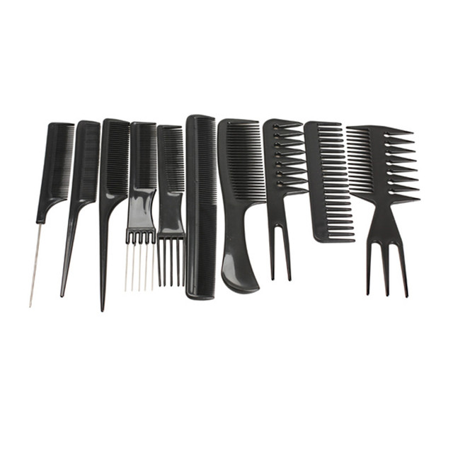 10pcs Professional Hair Combs Kit