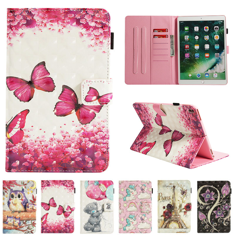Case For Apple Ipad Pro 10.5'' Smart Cover Soft Leather Auto Sleep Kids Cartoon Skin For New Ipad 2017 Air 1 Air 2 Pro 9.7