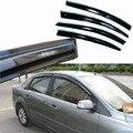 4 pcs Janelas de Ventilação Viseiras Chuva Guarda Sol Escudo Escuro Defletores Para Ford Focus