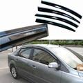 4 unids Ventanas Deflectores Vent Viseras Lluvia Guardia Parasol Oscuro Para Ford Focus