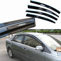 4pcs Windows Vent Visors Rain Guard Dark Sun Shield Deflectors For Ford Focus