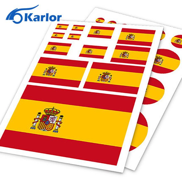 Spanish flag espanol spain esp ho car auto motorcycle decal set sticker scratch off cover ipad