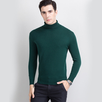 High Grade Men Sweater Turtleneck 100 Cashmere Pullovers New Winter Warm Jumper Noble Fashion Clothes Standard