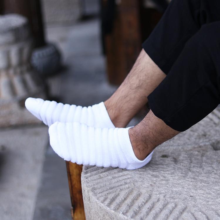 Men's Wool Coil Thickened  Socks, Fashion Tide Socks, Pure Cotton Sweat Absorbent Socks, Deodorant Socks, Autumn Winter So