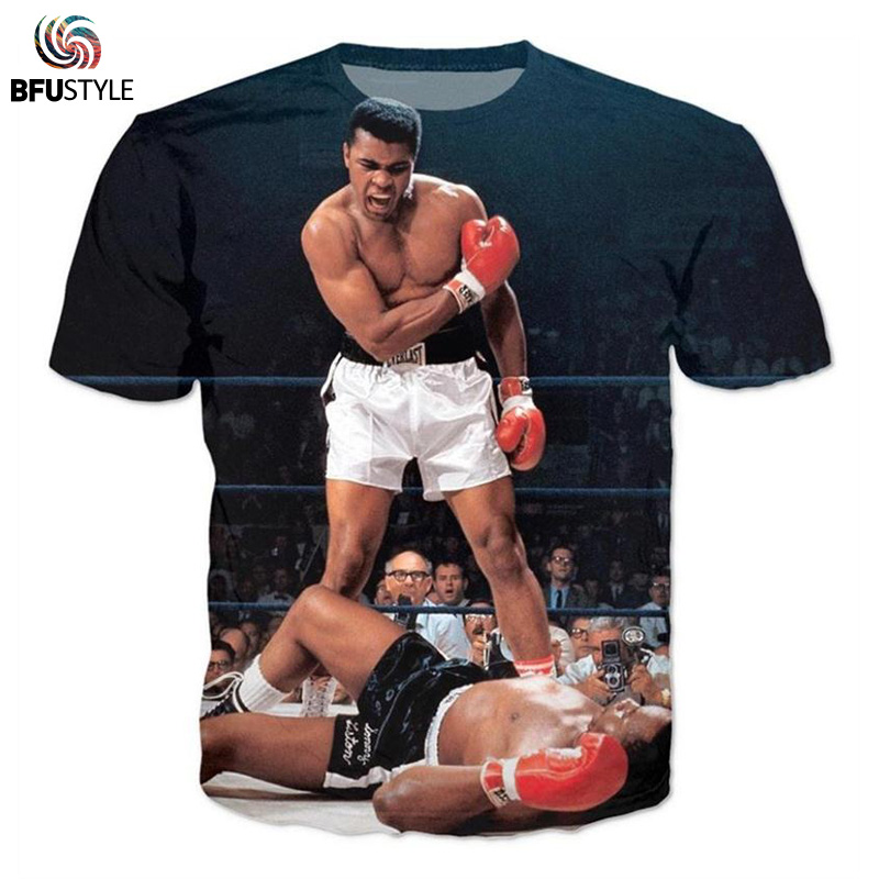 BFUSTYLE Men's   T     Shirts   2019 Short Sleeve Summer Tops Tees Causal Male Clothing 3D Muhammad Ali Graphic Tshirt   T  -  Shirt
