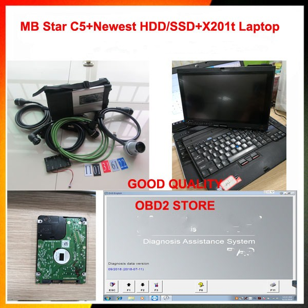 2019 05 Formercedes Kompakte Diagnose Mb Star C5 + X201t Laptop + Hdd Verbinden Wifi Sd Volle Software Diagnose Werkzeug Scanner 100% Garantie