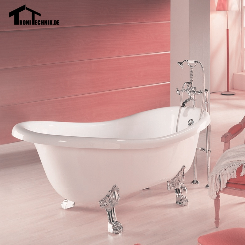 Uk shipping freestanding traditional bath tub slipper for Cast iron vs acrylic tub