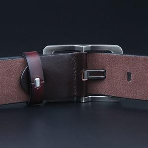 Image 4 - 牛本革メンズ夏のベルト調節可能な黒バックルベルトジーンズヴィンテージ男性 XXl ソフトストラッププラス size130 150 140