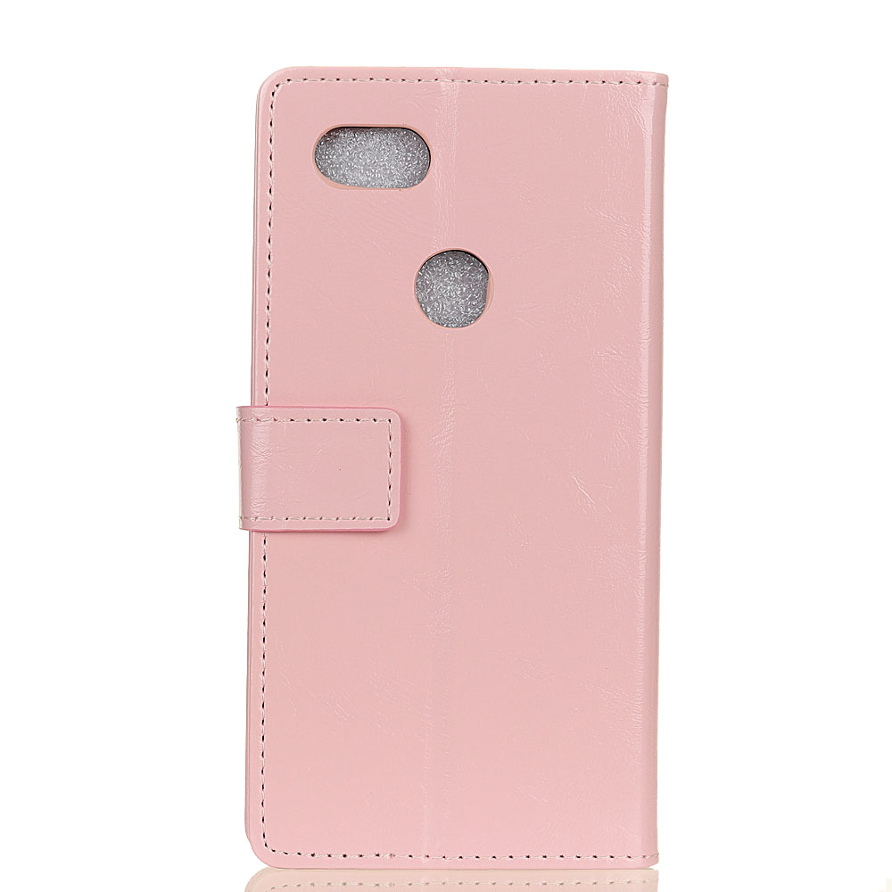 50Pcs/Lot New Crazy Horse Grain Wallet PU Leather Case With Card Holder Slot Stand For Google Pixel 3 / XL 3