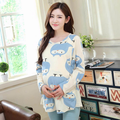 Autumn spring fashion maternity clothes postpartum cotton long sleeved pajamas suit maternal lactation feeding of pregnant women