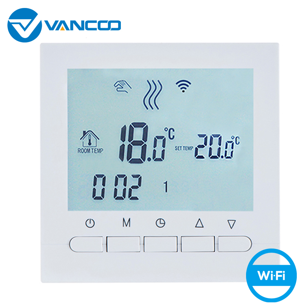 Vancoo Wifi Thermostaat 220V Voor Gas Boiler Verwarming Temperatuurregelaar Smart Thermoregulator Met Beok App