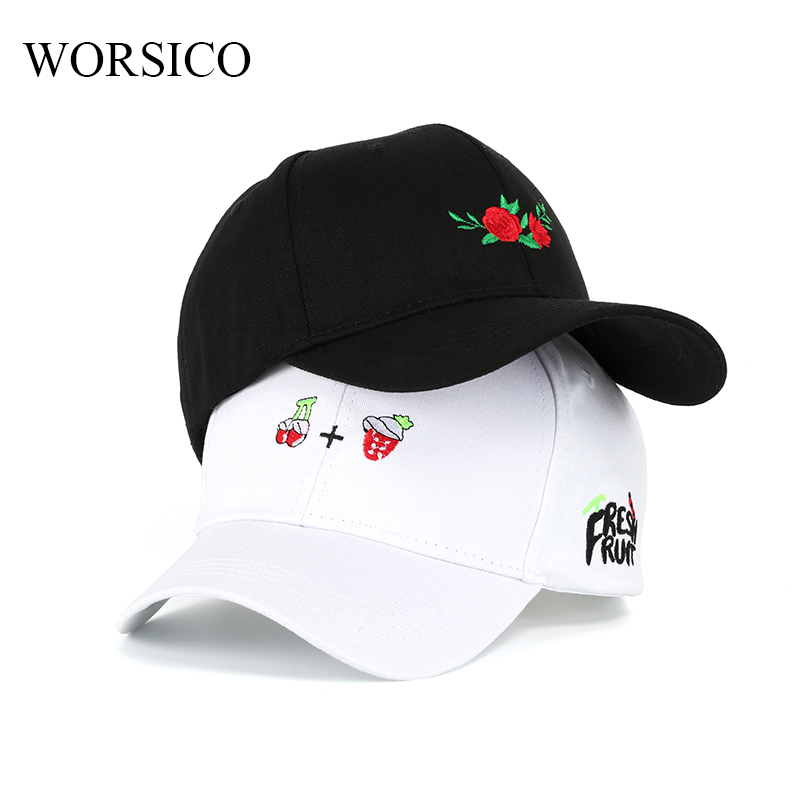 New Embroidery Summer Snapback Caps Women Men Black White Baseball Cap Unisex Cotton Dad Hats Caps Couple Bone Gorras Casquette 2016 feammal new rose floral embroidered casquette polos baseball caps cotton strapback black pink rose for women sport cap