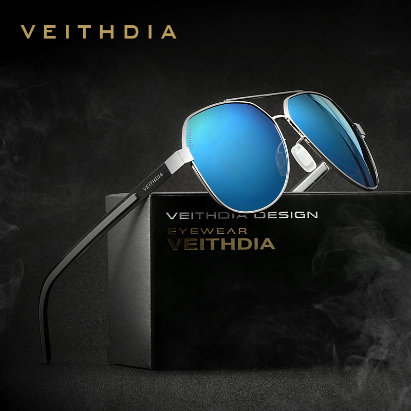 VEITHDIA 2020 Classic Men Sun Glasses Polarized Blue Coating Mirror <font><b>Lens</b></font> Women's Sunglasses Eyewear Accessories For Women 3556 image