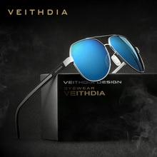 VEITHDIA Sun Glasses Polarized Blue Coating Mirror Classic Men's Sunglasses Oculos de sol Male Eyewear Accessories For Men/Women