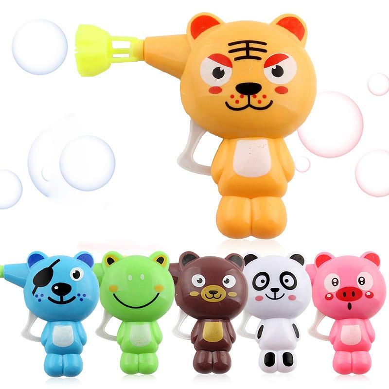 Cute Kids Animal Cartoon Magic Wand Bubble Gun Blower Toy Automatic Soap Bubble Machine Outdoor Toy For Children