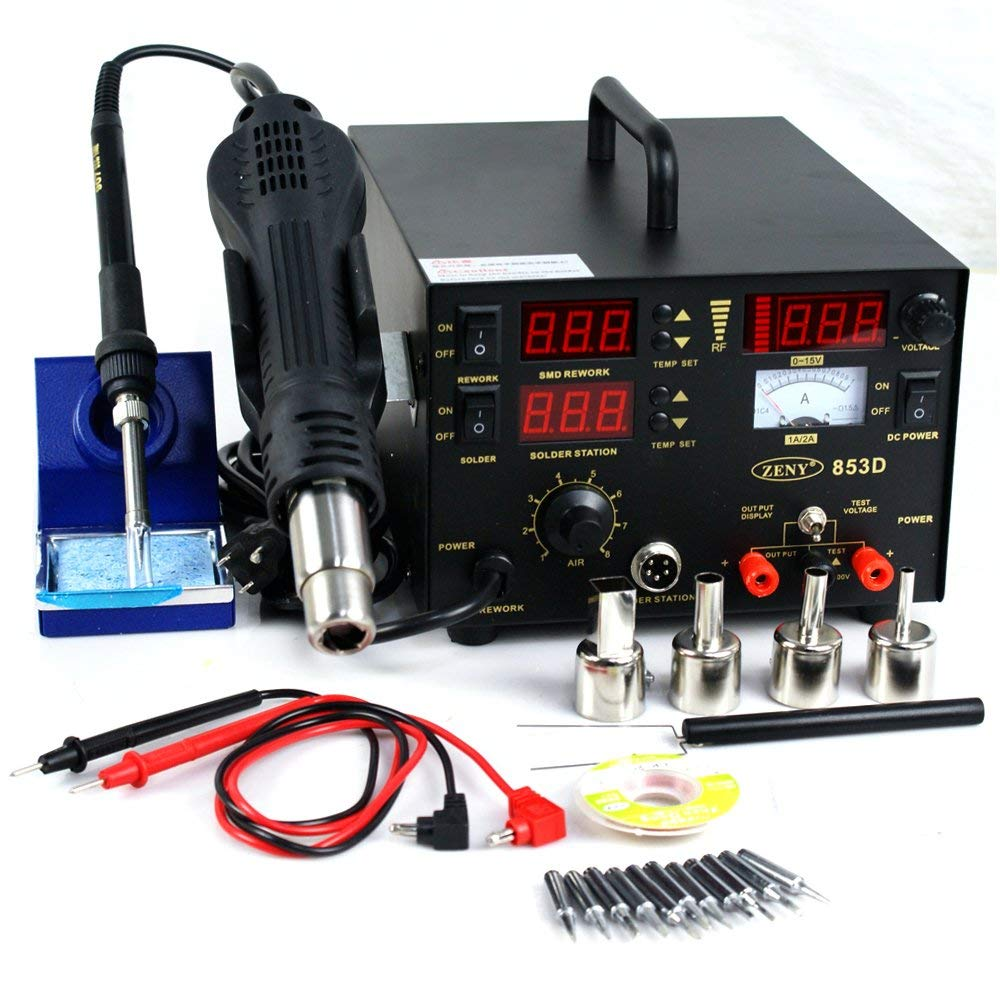 F2C 853d SMD DC Power Supply Hot Air Iron Gun Rework Soldering Station (mode #8)