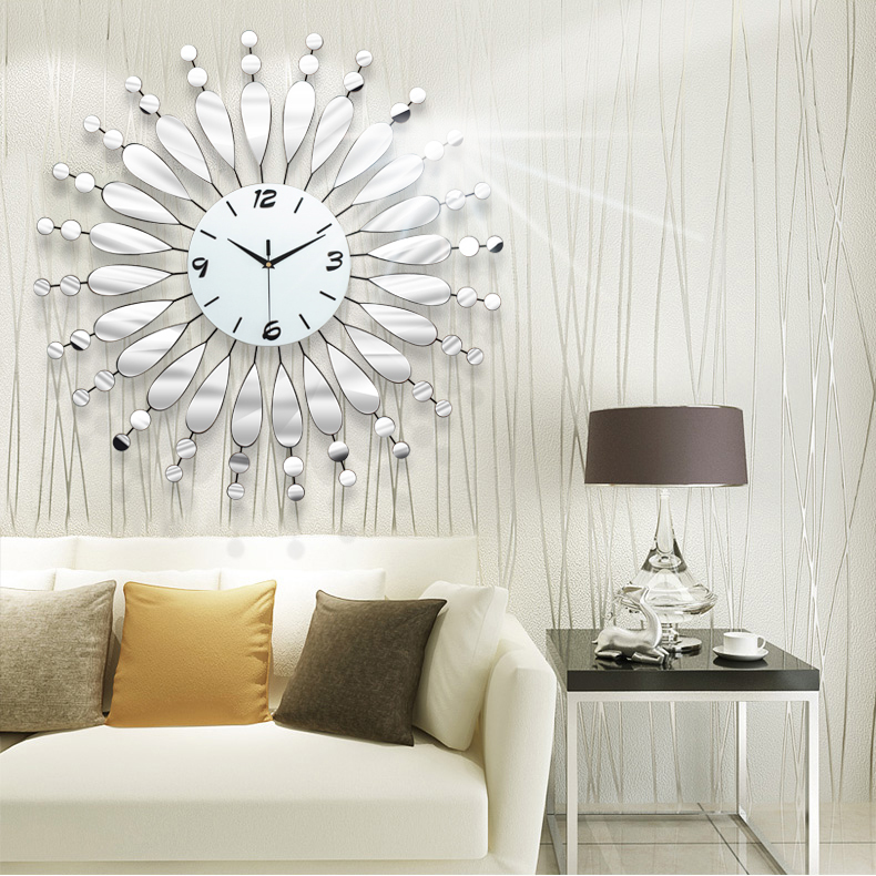 Luminousness Modern Brief The Mirror Wall Clock Large