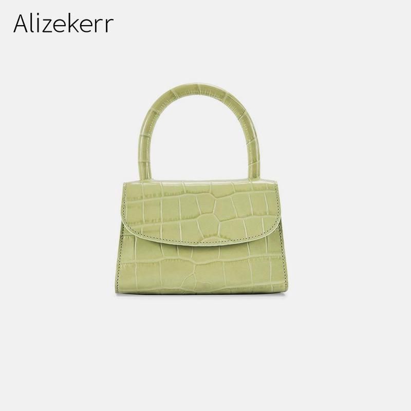 Crocodile Pattern Handbag For Women Fashion Top-Handle Famous Brand Woman Bag Small Flap Tote Bolsas Simple Shoulder Bag Female