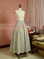 Vintage clásica correa de la raya falda larga lolita cosplay costume