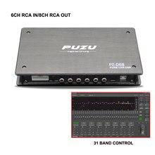 Procesador de señal Virtual puzz Natural 6CH a 8CH Automobile DSP 31band EQ tuning appropriate con ajuste de instrument de ordenador