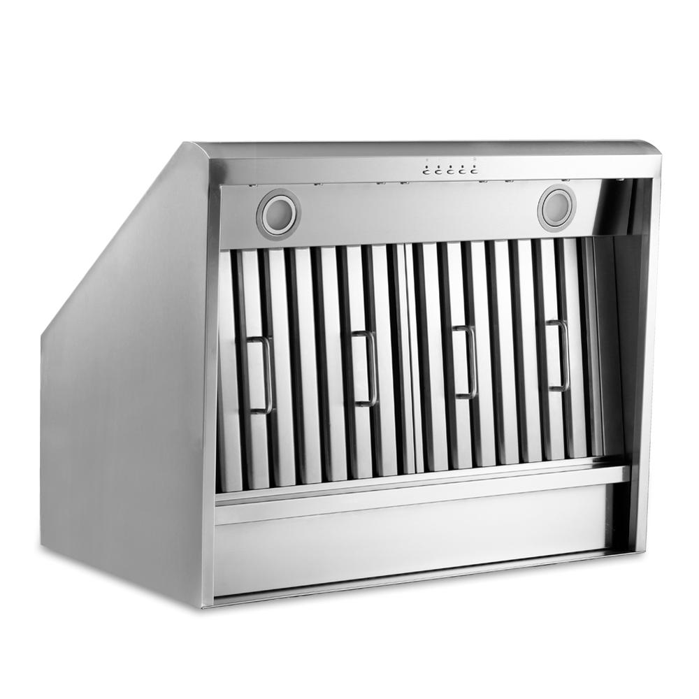 36inch Canopy Pro Style Under Cabinet Range Hood 900CFM Push Control Stainless Steel