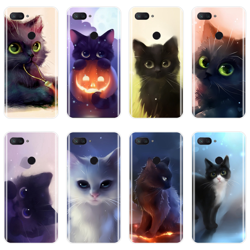 Cute Cat Phone Case For Xiaomi MiA1 MIA2 Mi8 Soft Silicone Back Cover For Xiaomi Mi A1 A2 Lite 8 SE 5 5C 5S 5X 6 6X Plus Case