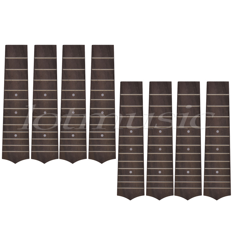 Fretted Ukulele Fretboard Fingerboard for 21 Inch Soprano Hawaii Guitar Parts Replacement 12 Fret Rosewood Pack of 8 soprano ukulele neck for 21 inch ukelele uke hawaii guitar parts luthier diy sapele veneer pack of 5