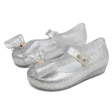 Melissa Style Cute Bowtie Jelly Sandals 2019 New Girls Shoes Bow Girl Non-slip Kids Toddler