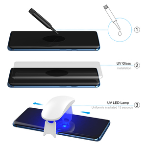 Image 5 - For Oneplus 7 Pro Screen Protector with fingerprint unlock UV Glass film full cover for Oneplus 7 Pro tempered glass