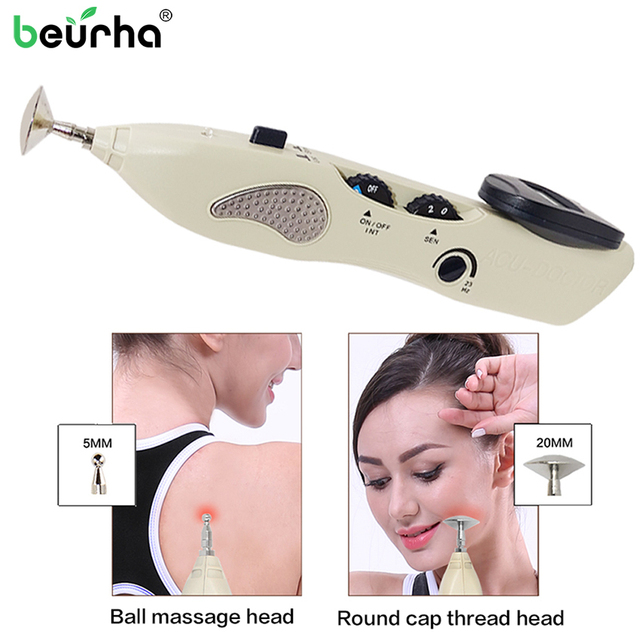 1 Set Acupuncture Meridian Pen Electronic Massage Acupuncture Pen Point Massage Instrument for Hole Equipment With Gift Box