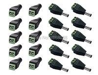 50 pc x Macho + 50 pc x connecteur Feminino 2.1x5.5mm led DC Cabo de alimentação Adaptador Jack Acessórios Plugue Tira Conduzida Uso Da Câmera de CCTV 12 V