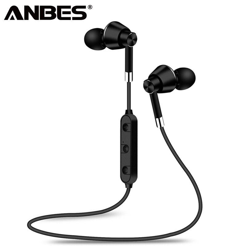 ANBES Métal Magnétique Bluetooth Écouteurs BT07 Sans Fil Étanche Sport Casque Super Bass Fone de ouvido Pour Samsung iphone
