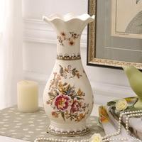 Creative Vase Ceramic European Home Decoration Flower Vase Retro Painted Decoration Vase