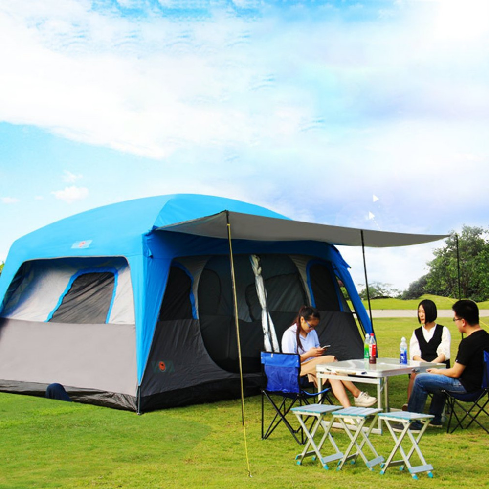 Free Boat Camel Outdoor Camping Picnic Hiking Rainproof Weather Resistant Large Tent Sun Shade Tent Suitable For 8-12 People outdoor camping hiking automatic camping tent 4person double layer family tent sun shelter gazebo beach tent awning tourist tent