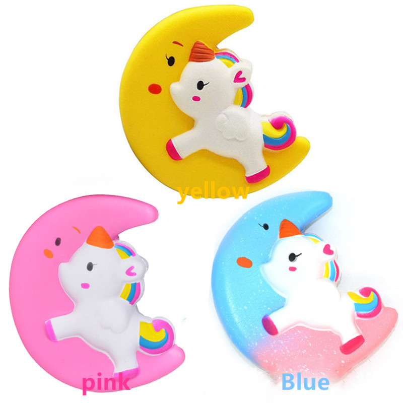 Cute PU Unicorn Rainbow Horse Animals Squishy Jumbo Slow Rising Squeeze Fun Toy For Kids Anti Stress Reliever Decompression Toys